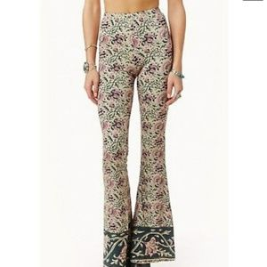 Chaser flare bell bottom floral pants